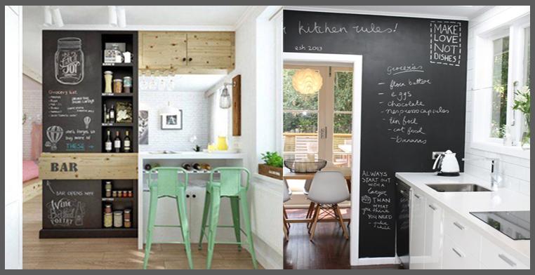 Parete effetto lavagna with tinteggiare casa idee - Imbiancare casa idee colori ...