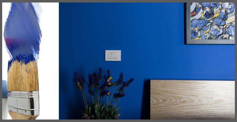 pittura blu