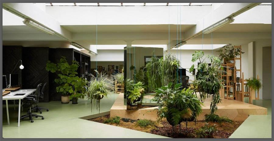 Giardino in casa si pu - Giardino interno casa ...