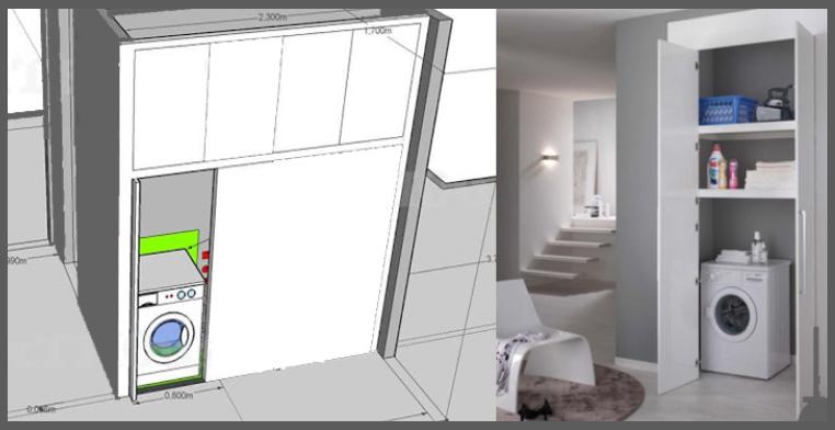 Dove metto la lavatrice help - Creare un bagno con sanitrit ...
