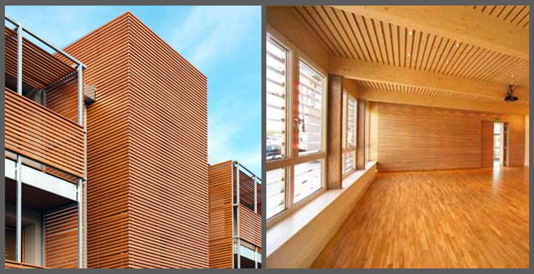 struttura e rivestimenti in legno