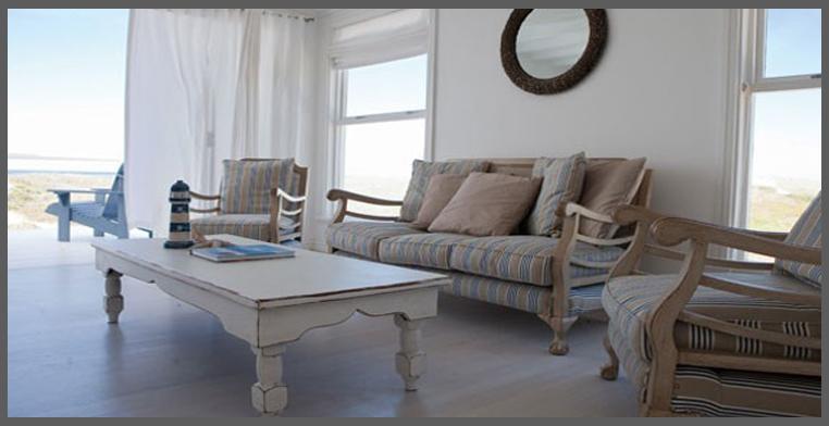 il soggiorno della casa al mare