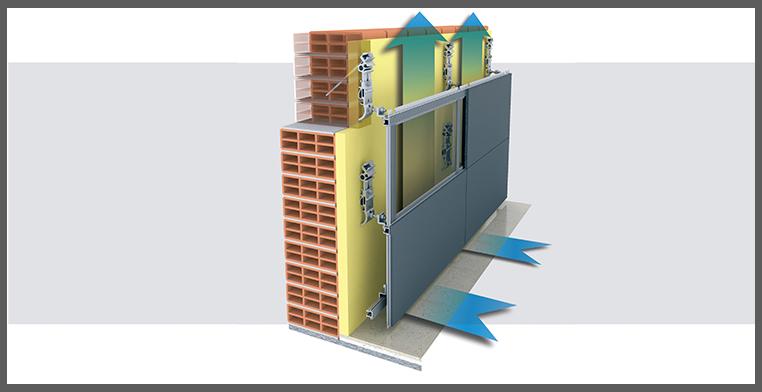 Facciata ventilata esempi ispirazione di design per la - Sistemi per riscaldare casa ...
