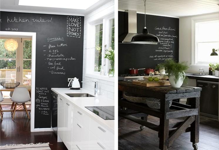 La cucina come convivium lo spazio del preparare e dello stare - Lavagna per cucina ...