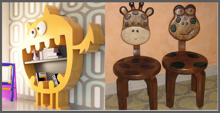 libreria mostro-sedie animali