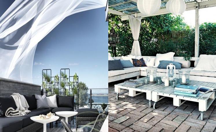 Progettare la terrazza come una zona relax for Arredare casa mare ikea