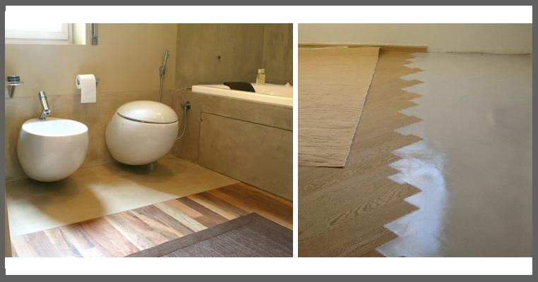 La resina nuovi pavimenti a tutta creativit - Parquet nel bagno ...