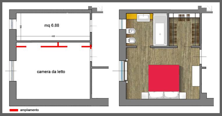 Dimensioni Camera Da Letto Con Cabina Armadio E Bagno ...