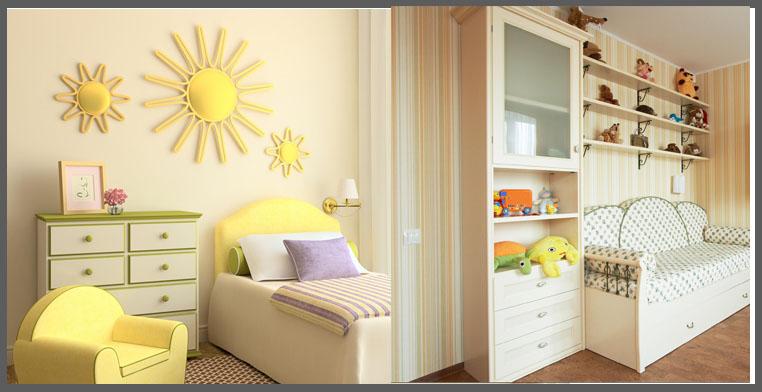Camerette bambini decorazioni pareti idee per il design for Colori pareti camerette ragazzi