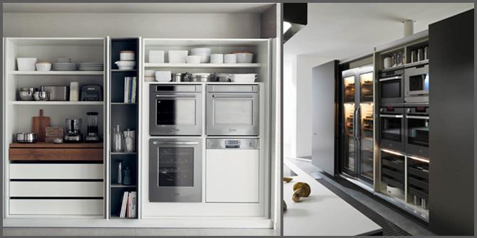 Cucine Con Ante Scorrevoli A Scomparsa.Razionalizzare Gli Spazi Con La Cucina A Scomparsa Progettazione