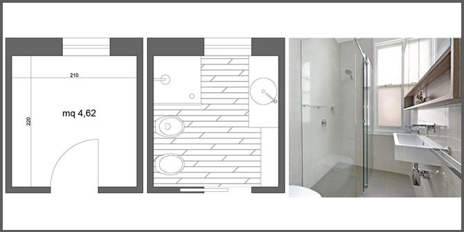 ristrutturare bagno quadrato