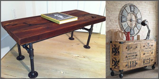 tavolo per uno stile industriale
