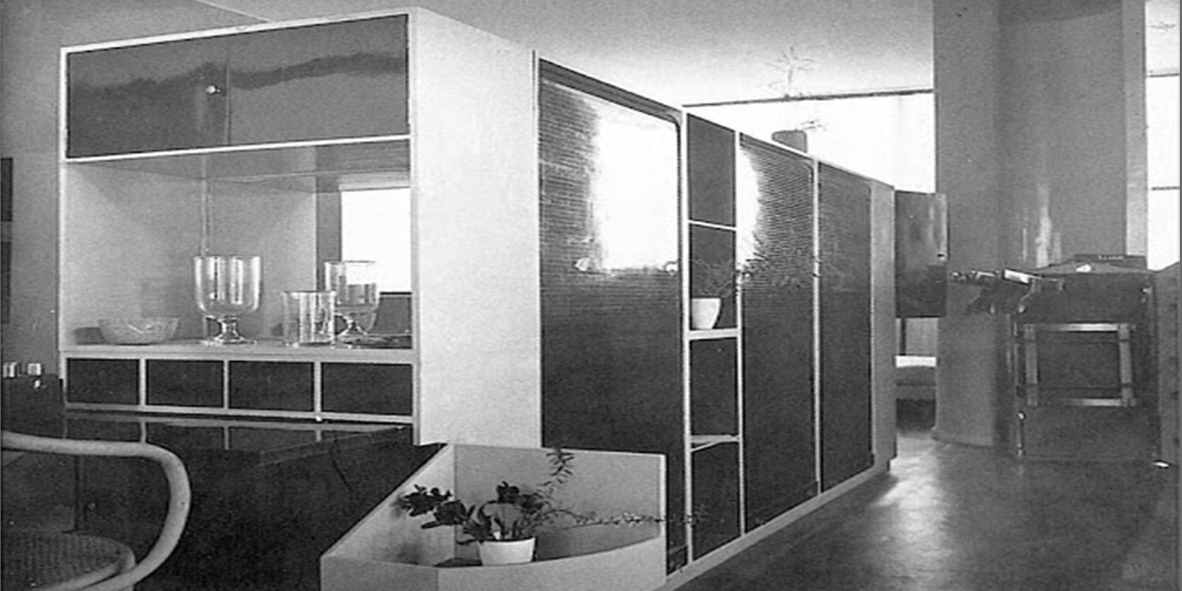 progetto di arredamento dell'architetto Le Corbusier: casier standard