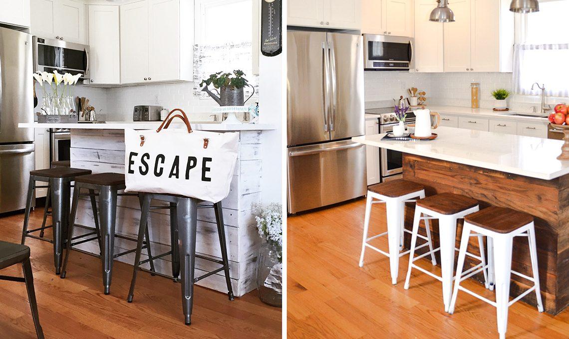 due stili d'arredo diversi per la cucina