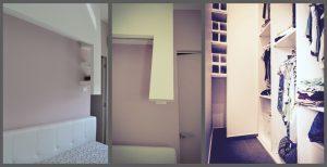 ristrutturazione letto e cabina armadio