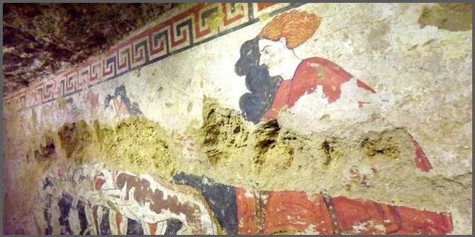 """<img alt=""""degrado affreschi tome etrusche umidità"""">"""