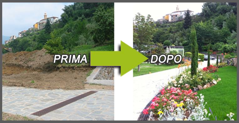 giardino prima e dopo