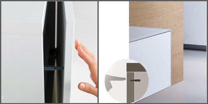 Pensili della cucina che sistema di apertura scegliere - Tipi di porta ...