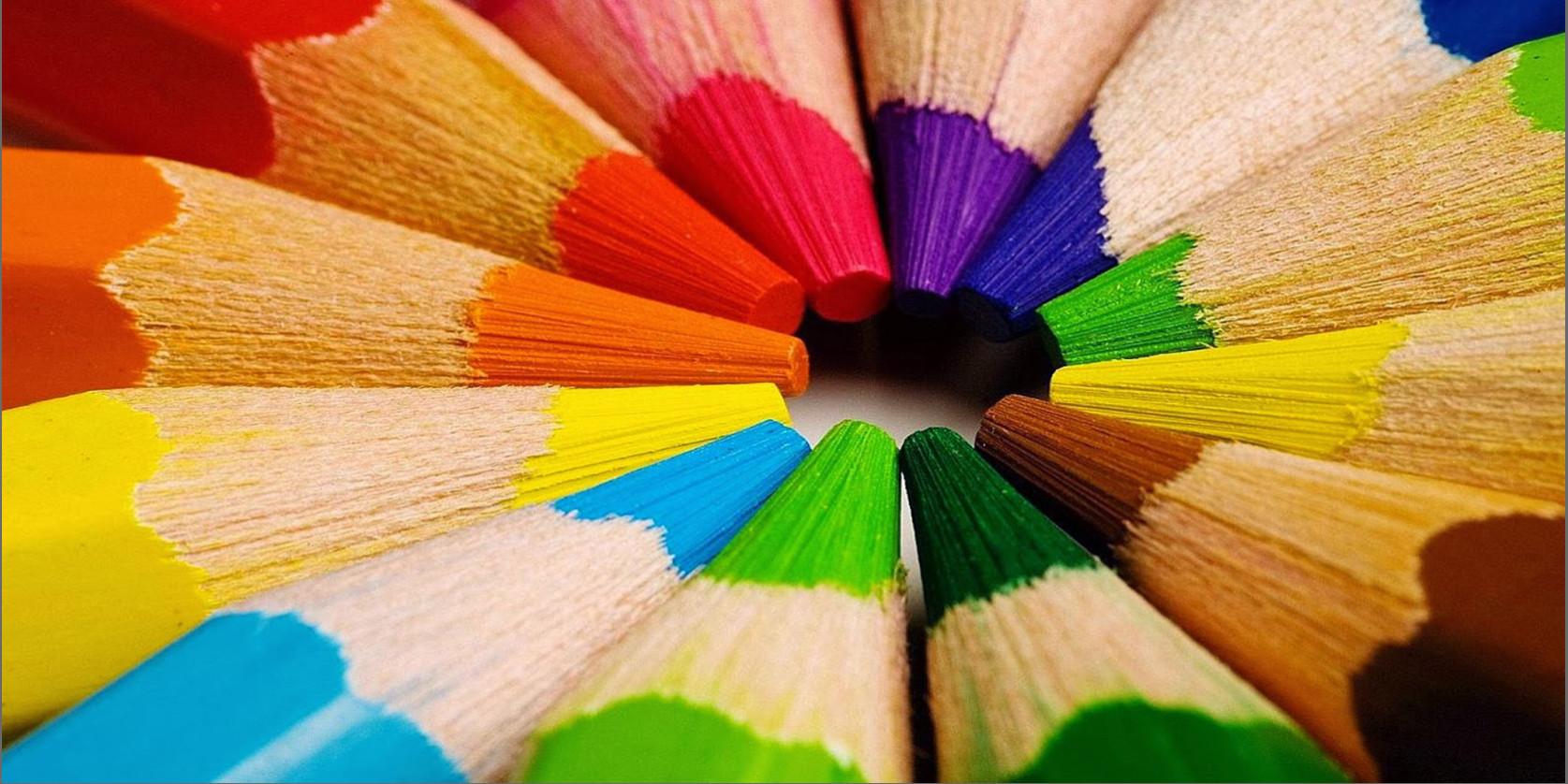 matite di diversi colori