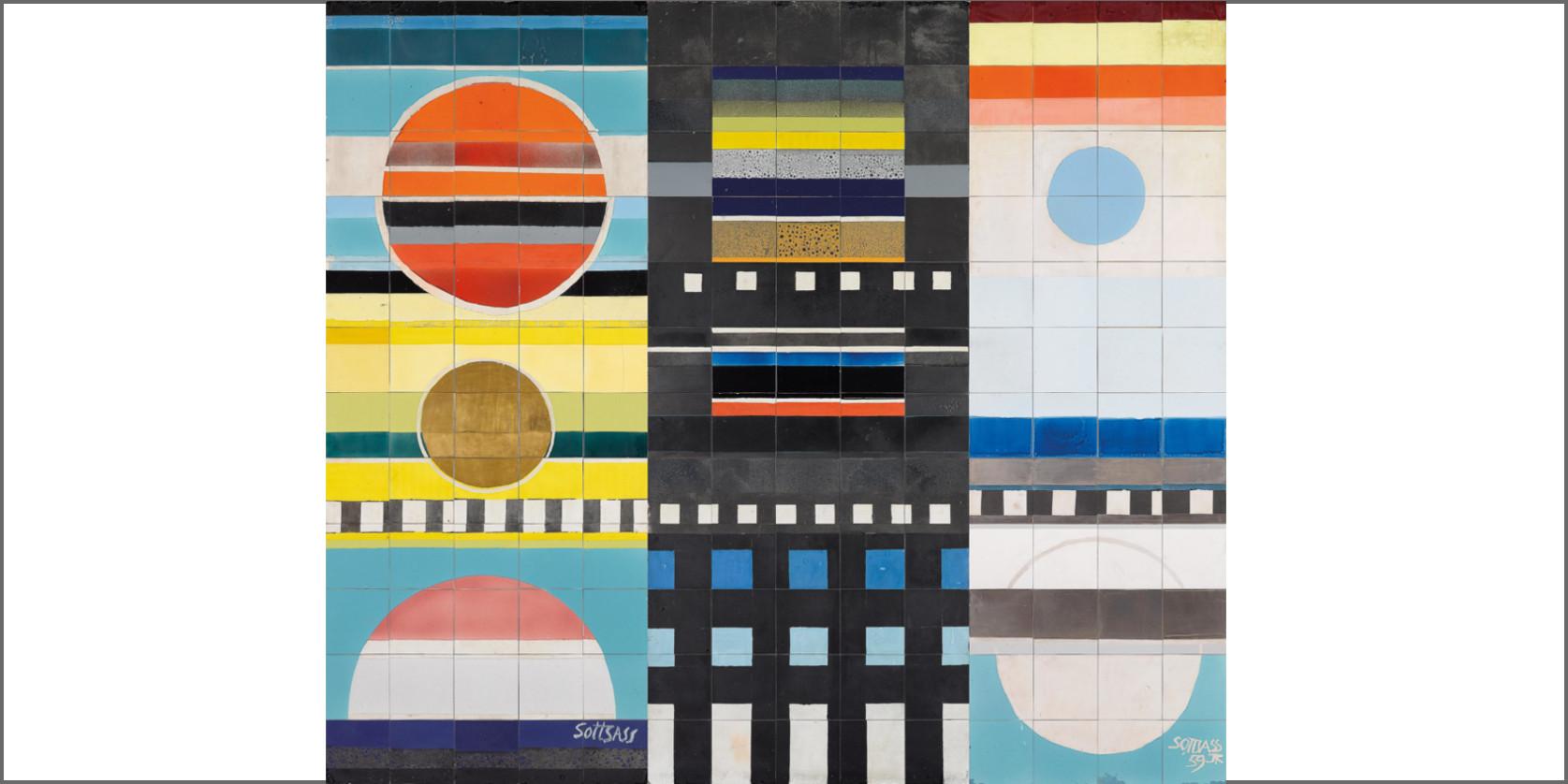 immagine a colori : Grande murale, progetto Ettore Sottsass, 1959