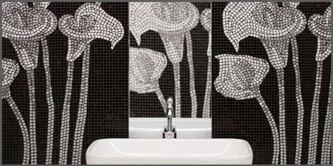 mosaico come arredo in bagno