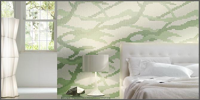 mosaico sulla parete di casa
