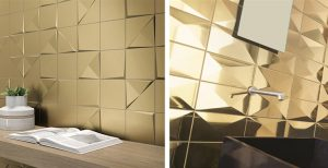 Ceramica le pareti diventano scenografie progettazione casa - Smalto per pareti bagno ...