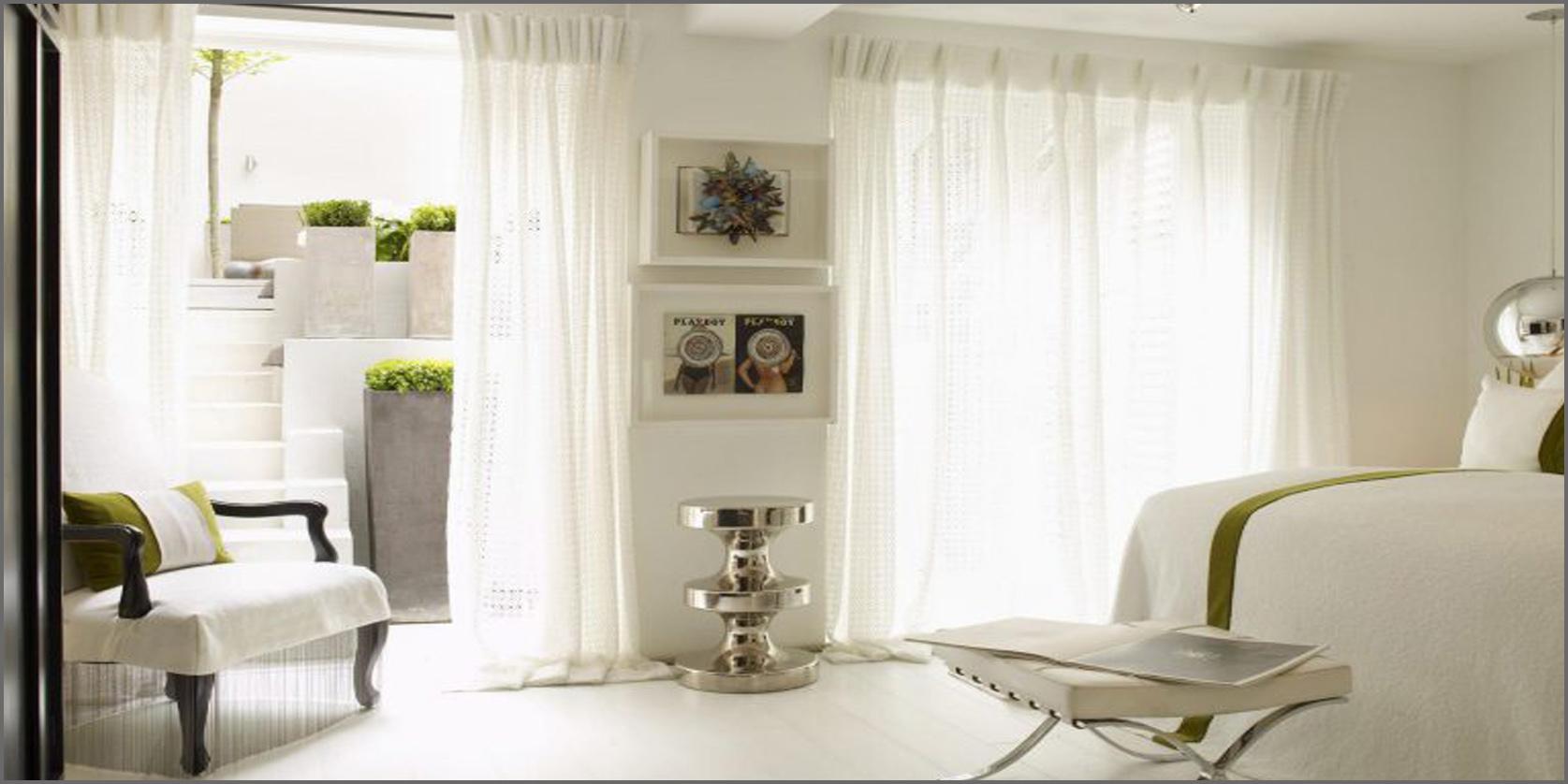 illuminare una stanza buia con tende e colori chiari
